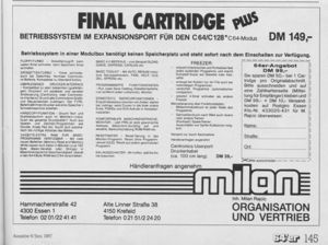 Final Cartridge Plus Advert
