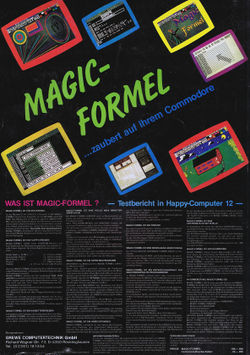 Magic Formel 1 Advert