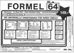 Formel 64 Advert