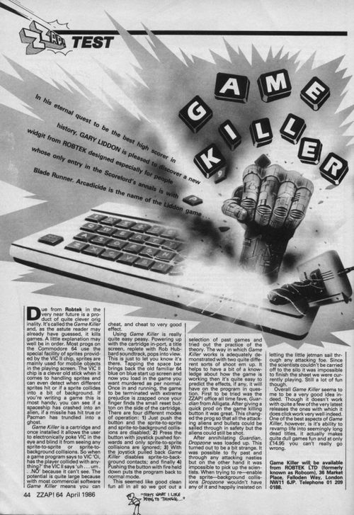 Zzap 64 Issue 012 1986 Apr Game Killer Review.jpg