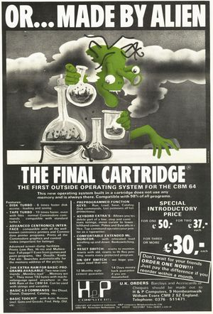 Final Cartridge 1 Advert