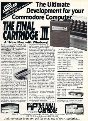 Final Cartridge III Advert